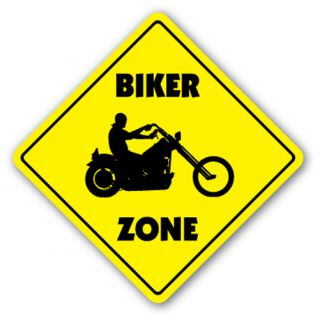 Biker Zone Sign Xing Signs Motorcycle Parts Bikers Bike Cycle Gift Club Bar