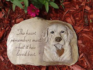 Pet Memorial Garden Stone Labrador Dog Memorial Pet Grave Marker Pet Headstone