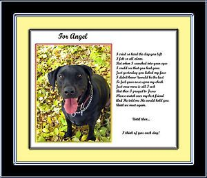 Dog Memorial Personalized w Your Pets Photo Name Verse Poem Unique Pet Loss Gift