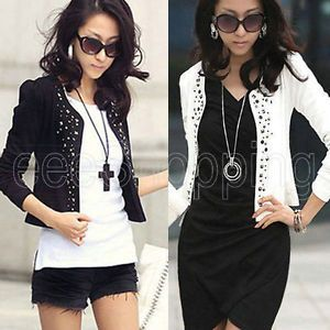 Sale Korea Women Girl Slim Short Blazer Casual Suit Jacket Coat Top Outwear Q114