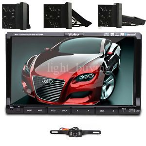 2 DIN Car DVD Player in Deck Touch Screen Audio Auto Video TV iPod CD Stereo Cam
