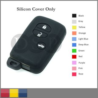 Silicone Cover for Toyota 4Runner Venza Avalon Camry Smart Remote Key Case 3B BK