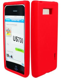 Cute Red Silicone Gel Skin Case Cover Compatible with LG Splendor Venice