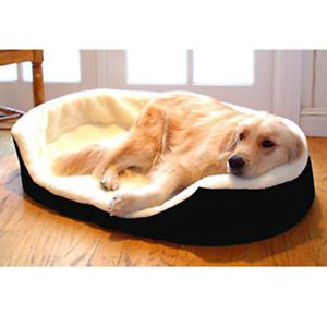 Majestic Pet 28x21 Medium Lounger Poly or Cotton Orthopedic Pet Dog Bed