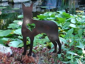 Doberman Pet Dog Memorial Lawn Garden Stake K9 Ornament
