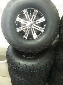 "Club Car DS or Precedent Golf Cart Part 10"" Wheel Tire Assembly for Lifted Carts"