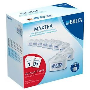 12 x Brita Maxtra Filter Cartridges Annual Pack