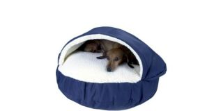 Royal Blue Thick Pet Dog Cave Bed Plush Faux Wool