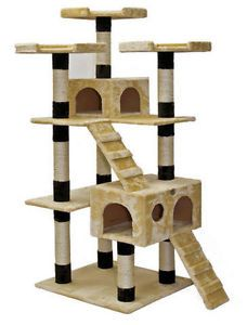 Gopetclub Cat Tree House Bed Condo Pet Furniture F2084