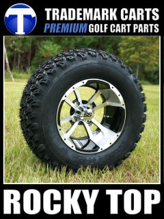 "Club Car 6"" Spindle Lift Kit 12"" Storm Trooper Wheel and Tire Golf Cart Combo"