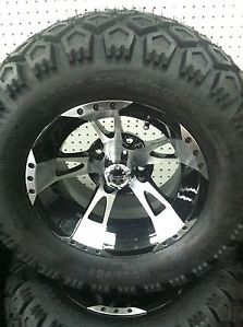 "Club Car DS or Precedent Golf Cart Part 12"" Wheel Tire Assembly for Lifted Carts"