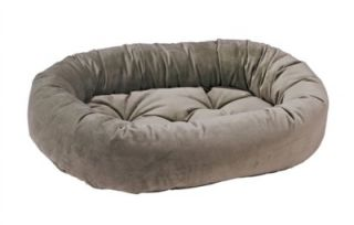 New Super Premium Microvelvet Gold Donut Pet Dog Cat Bed Designer Luxury