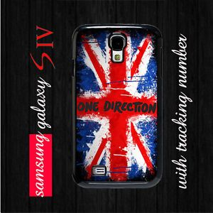 One Direction Flag Samsung Galaxy S4 Hard Case Cover 1D Directioner Fans