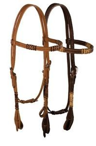 Buffalo Leather Rawhide Collection Headstall Bridle New