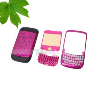 Flower Full Housing Case for Blackberry Curve 8520 Red Black Pink White Purple