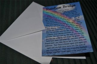 Rainbow Bridge Poem Pet Memorial Sympathy Card