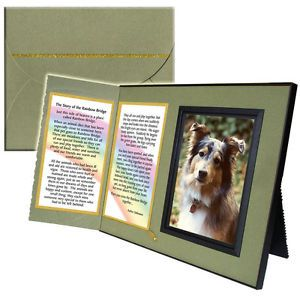 """The Rainbow Bridge"" Memorial Keepsake Picture Frame Pet Loss Sympathy Gift"