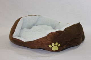New Brown Pet Dog Puppy Cat Soft Fleece Warm Bed House Plush Cozy Nest Mat Pad