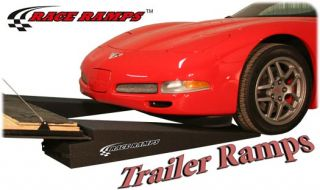 "Pair 4"" Tall Trailer Race Ramps Low Profile RR TR4"