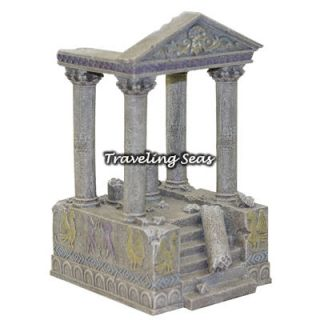 Blue Ribbon Pet Greek Ruined Temple with Stairs Aquarium Ornament Decoration