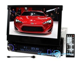 "Car 7"" Motorized Stereo w Bluetooth 2yr Waranty CD  DVD Player Touch Screen"
