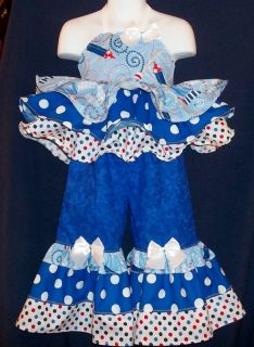 Custom National Patriotic Firecracker Pageant Casual Wear 2T 3T