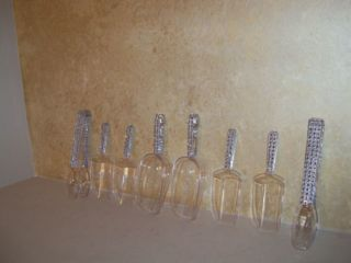 Wedding Party Candy Buffet Mini Bling Diamond Jar Scoops Tongs Set Lot of 8