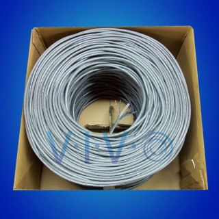 New 1 000 ft Bulk Cat6 Ethernet Cable Wire UTP Pull Box 1 000ft Cat 6 Grey