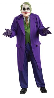 Adult Men's Deluxe Batman The Dark Knight Joker Halloween Costume with Mask