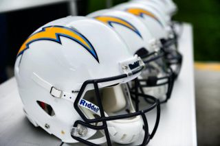 San Diego Chargers Helmet Decals 3D Raised Rubber Bumper Nike Pro Combat New NFL