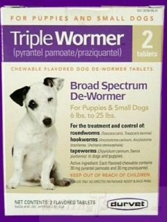 Dog Wormer Tablets All Worms Small Dogs Puppies