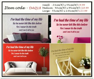 Vinyl Wall Art Decal Quote
