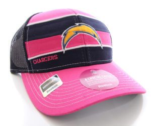 San Diego Chargers Hat Womens Breast Cancer Awareness Snap Back Ball Cap