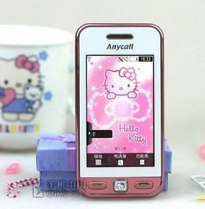 "Hello Kitty Samsung S5230C Cell Phone 3"" Touchscreen Nice Phone for Sale"