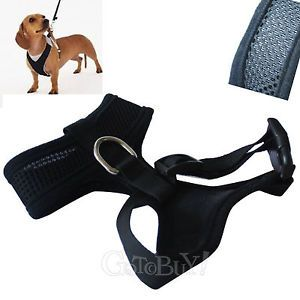 Black Soft Mesh Harness for Small Pet Dog Puppy Cat Adjustable Comfort s XS