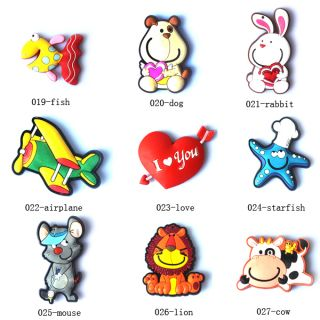 Cartoon Multi Style Lovely Silicone Fridge Magnet Christmas Gift Cartoon Sticker