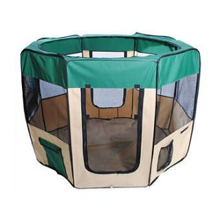 "New 57"" Green Dog Pet Puppy Kennel Exercise Pen Playpen"