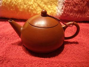 Vintage Handmade Chinese Zisha Red Clay Pottery Artist Stamped Tea Pot 紅泥西施奶