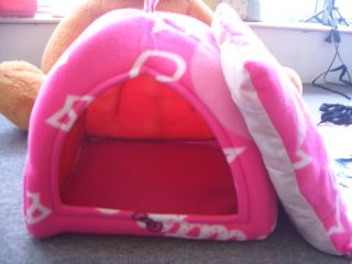 New Pink HelloKitty Dog Cat Pet Covered Bed Tent Style