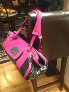 Rock Republic Small Dog Carrier Pink and Black