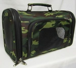 Pet Carrier Small Animal Tote Carrier Cat Dog Travel Case New Small Size Camo