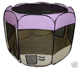 Purple Pet Dog Cat Tent Puppy Playpen Exercise Pen XS