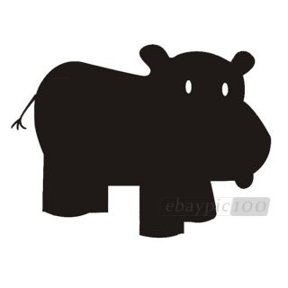 Whale Hippo Elephant Giraffe Chalk Blackboard Removable Wall Sticker Decal