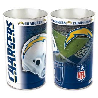 San Diego Chargers NFL 15 inch Wastebasket Trash Can Field New