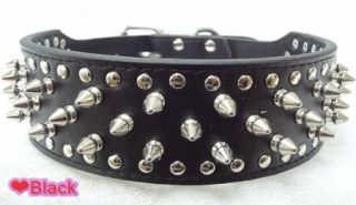 New Pink Leather Spiked Studded Dog Harness Collar Set Studs Pitbull Husky Boxer
