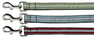 Dog Pet Puppy Preppy Stripes Martingale Nylon Collar Limited Slip Safety Leash