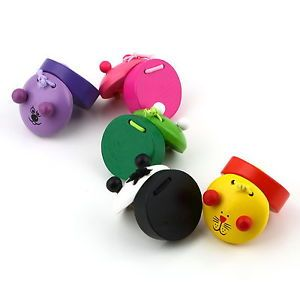 Wooden Castanet Child Musical Percussion Instrument Preschool Education Toy He