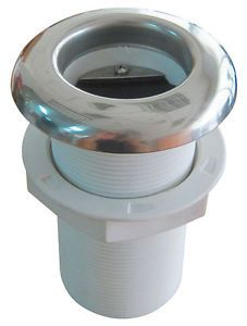 Stainless Steel Covered Boat Nylon thru Hull Hose Fitting with Rubber Flapper 2""