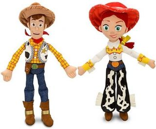 "12"" Disney Mini Bean Bag Toy Story 3 Woody Jessie Plush Toy Doll Set"