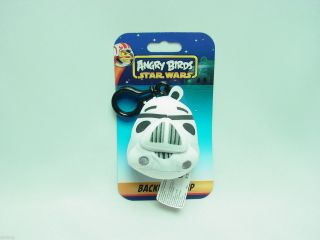 "3"" Angry Birds Star Wars Stormtrooper Clip on Plush Toys Licensed"
